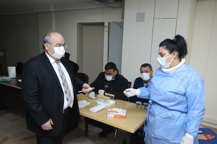 belediye personeline korona virüs testi yapıldı